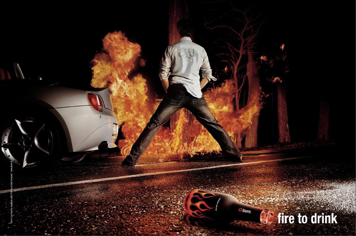 ... 出所:Ads of the World 【関連エントリー】コカコーラの... 燃える男の